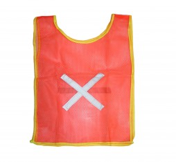 VEST REF MINI BIB ORANGE COMES WITH CROSS ON BACK