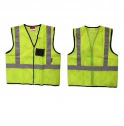 JACKET REFLECTIVE ECOMONY AIRATED LIME C/W ID POCKET AND ZIP EN4