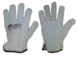 FORCE WHITE DRIVERS LEATHER GLOVES