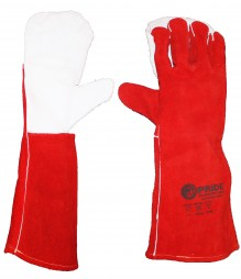 PRIDE A-GRADE RED LEATHER GLOVES